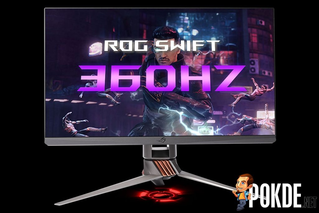 nvidia rog swift 360hz gaming monitor ces 2020 front
