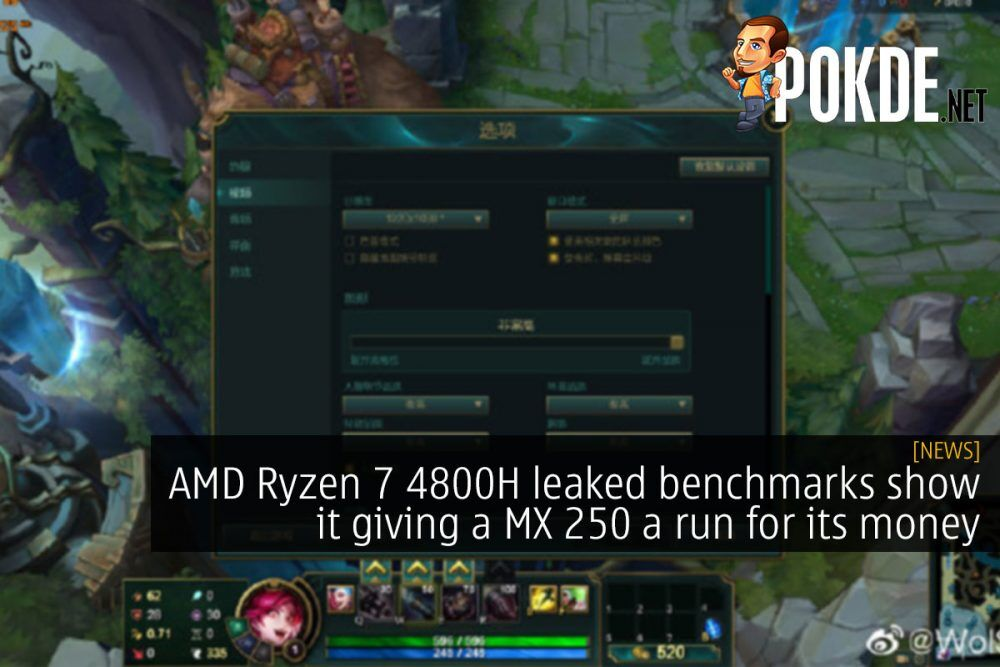 AMD Ryzen 7 4800H leaked benchmarks show it giving a MX250 a run for its money 22