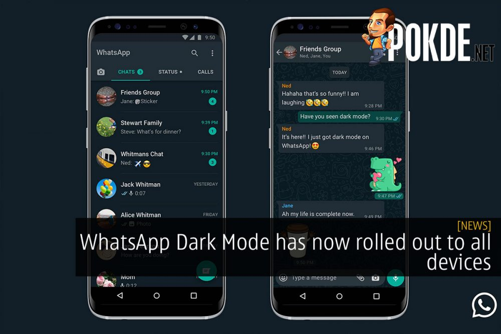 whatsapp night mode