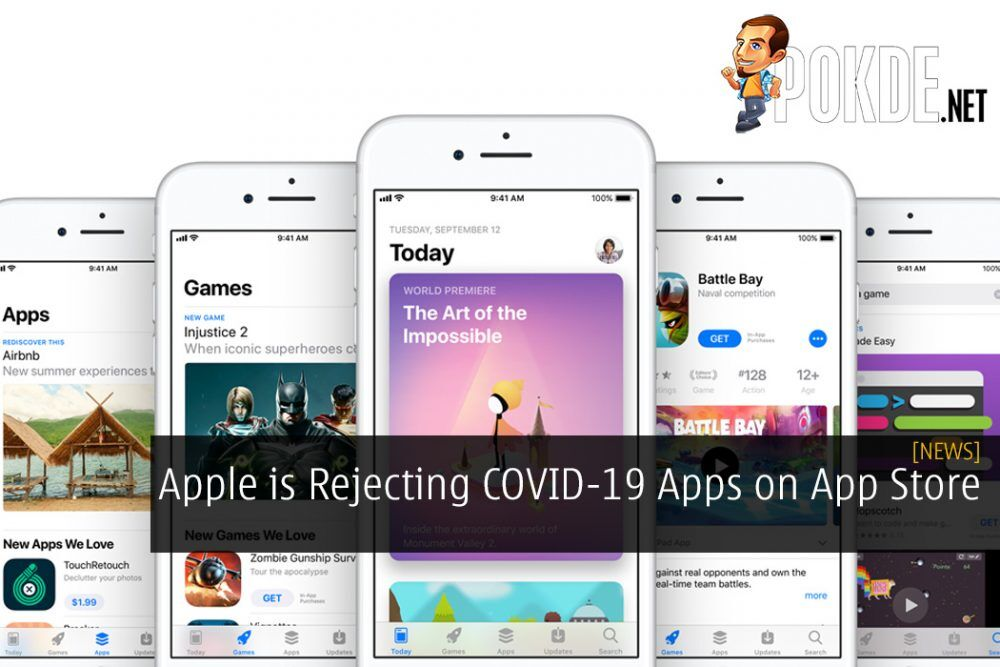 Apple is Rejecting COVID-19 Apps on App Store for a Good Reason