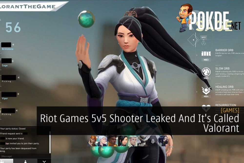 Riot Games 5v5 Shooter Leaked And It's Called Valorant 18