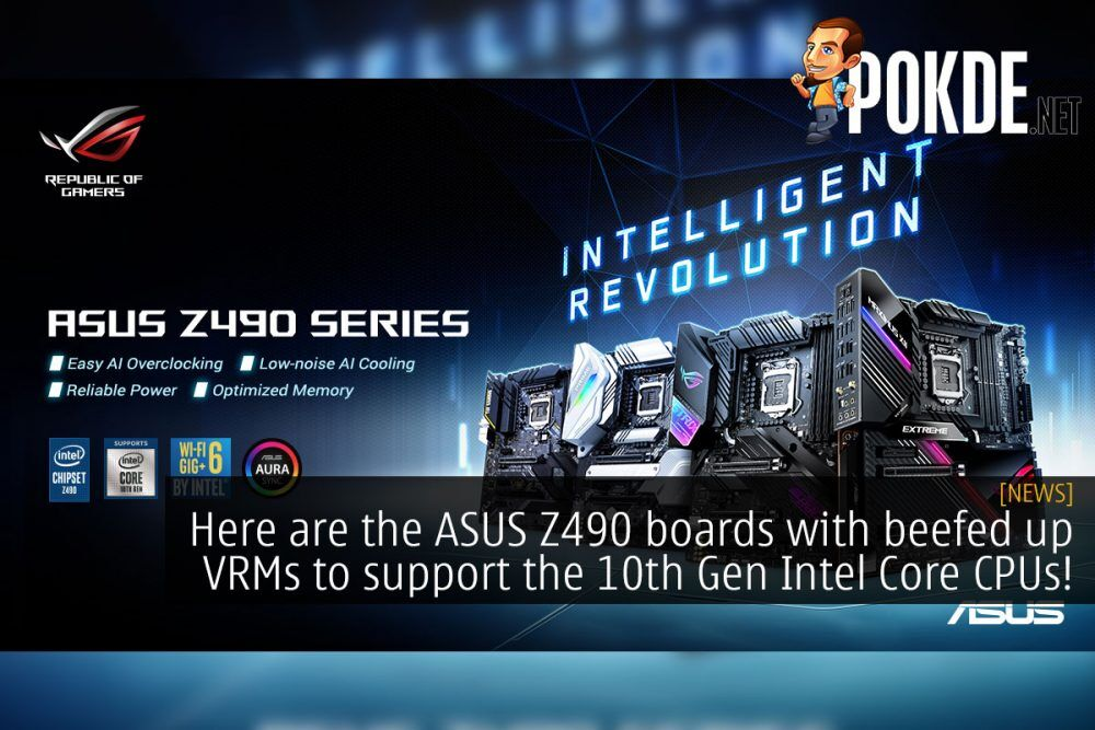 Here are the ASUS Z490 boards with beefed up VRMs to support the 10th Gen Intel Core CPUs! 23