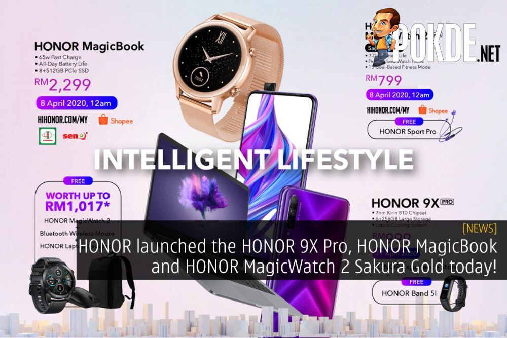 HONOR launched the HONOR 9X Pro, HONOR MagicBook and HONOR MagicWatch 2 Sakura Gold today! 20