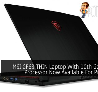 MSI GF63 THIN Laptop With 10th Gen Intel Processor Now Available For Preorder 19