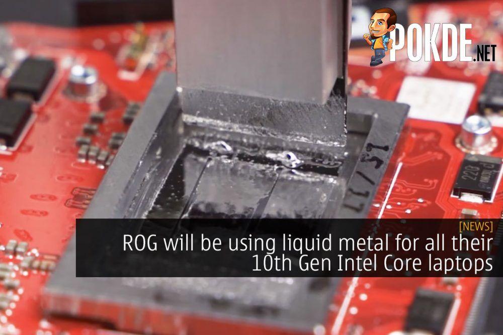rog liquid metal 10th gen intel laptop cover