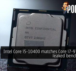 intel core i5-10400 matches i7 9700f leaked benchmark cover