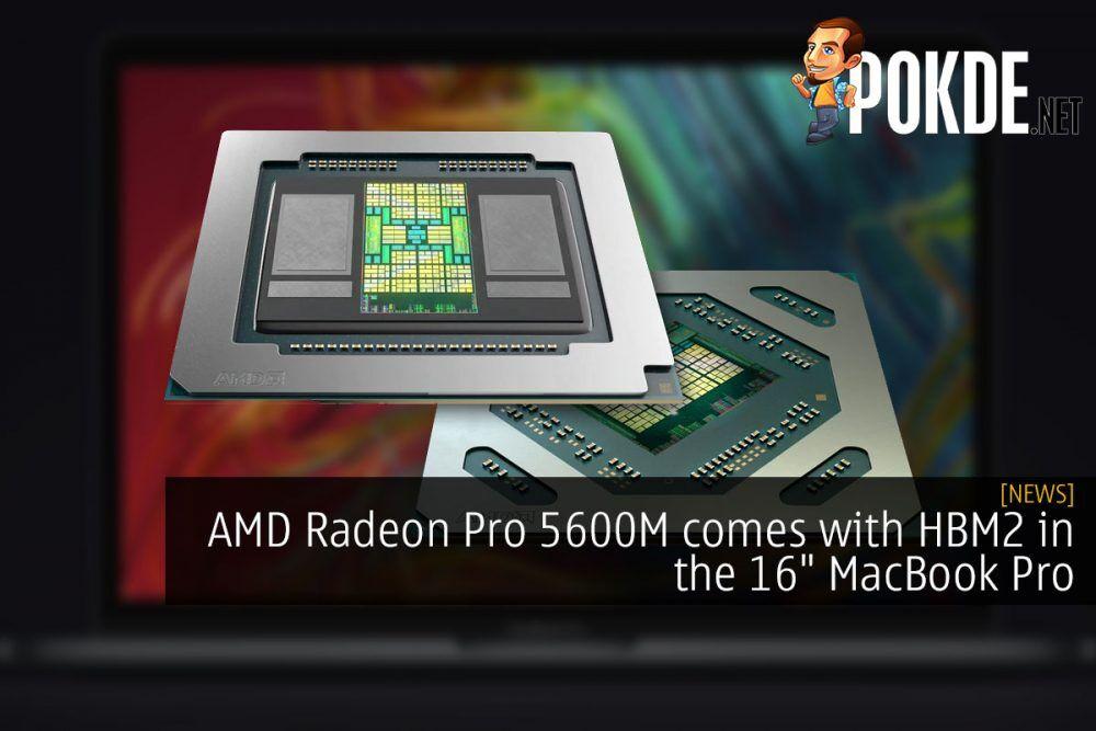 AMD Radeon Pro 5600M HBM2 16 inch macbook pro cover