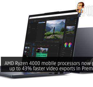 AMD Ryzen 4000 mobile processor Adobe Premiere Pro cover