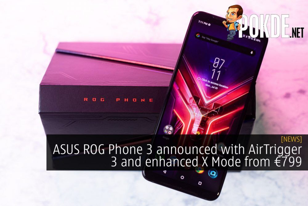 ASUS ROG Phone 3 AirTrigger 3 X Mode 799 euro cover
