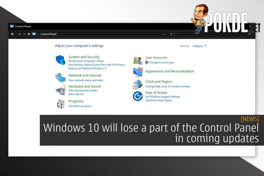 windows 10 control panel cover