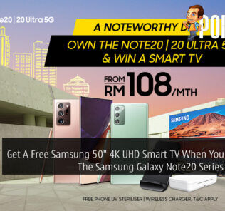 """Get A Free Samsung 50"""" 4K UHD Smart TV When You Purchase The Samsung Galaxy Note20 Series With Digi 25"""