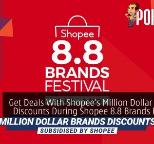 Get Deals Up To 96% Off With Shopee's Million Dollar Brands Discounts During Shopee 8.8 Brands Festival 22