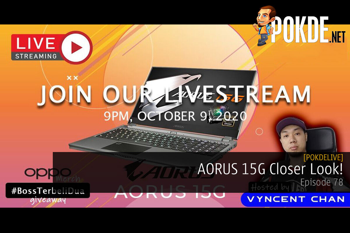 PokdeLIVE 78 — AORUS 15G Closer Look! 14