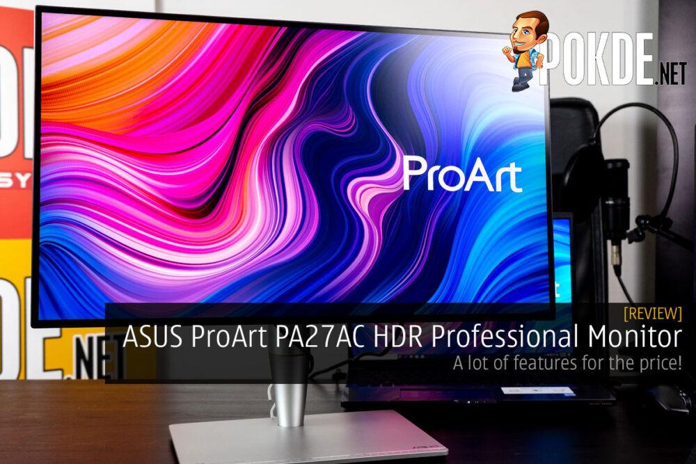 asus proart pa27ac proart calibration color option cover