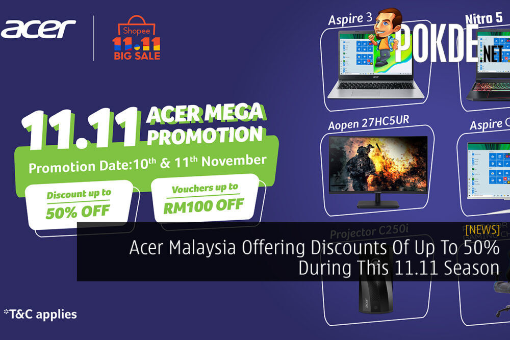 Acer Malaysia Shopee 11.11 cover