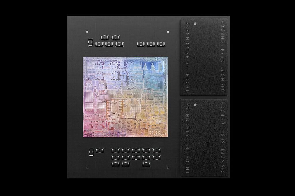 Apple M1 chip package dram