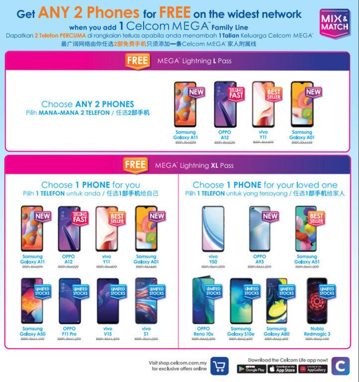 Get Free Smartphones When You Sign Up With Celcom MEGA Lightning Plan 18