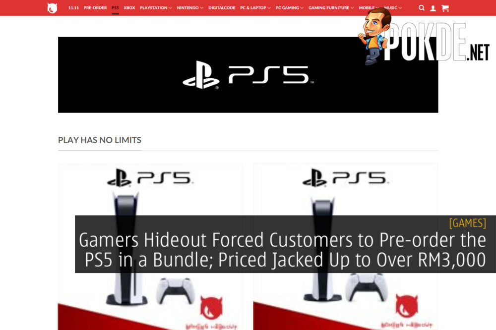 Gamers Hideout PS5 Pre-order cover final