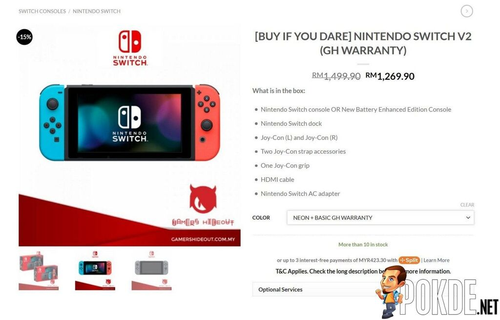 Gamers Hideout Switch V2 promo GH Warranty