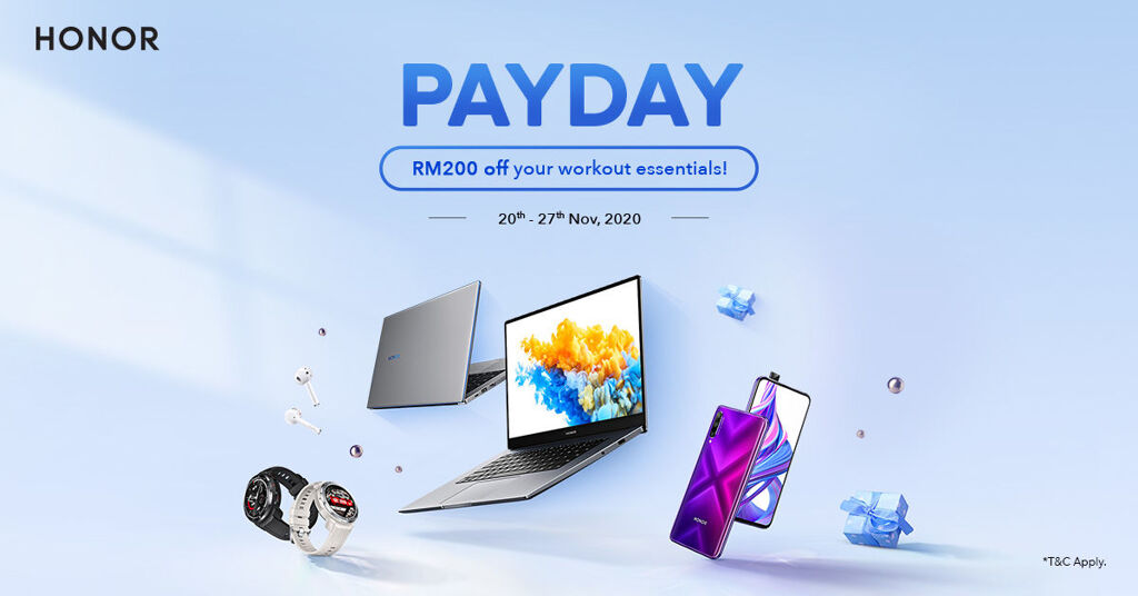 HONOR Offers RM200 Discount This HONOR Pay Day Sale 20