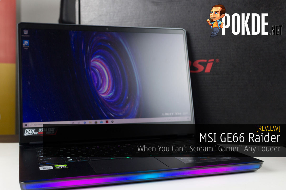 "MSI GE66 Raider Review — When You Can't Scream ""Gamer"" Any Louder 6"