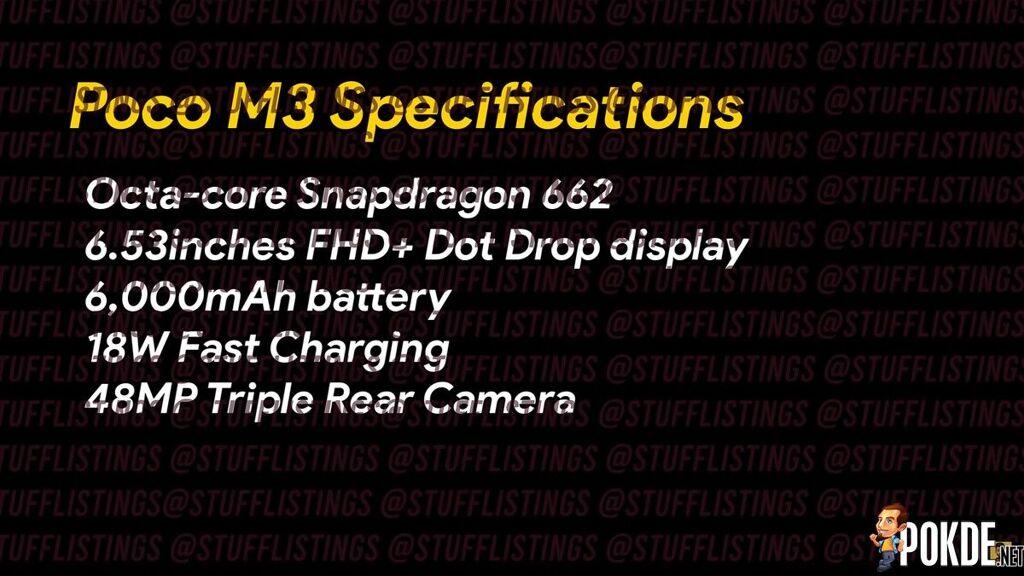 POCO M3 Specs Leak