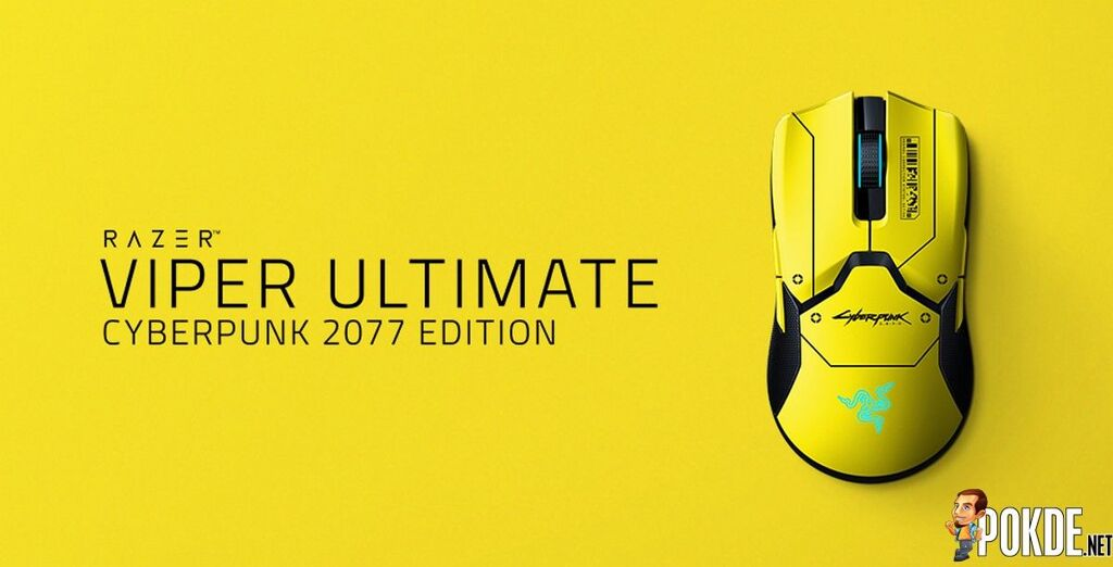Razer Viper Ultimate Cyberpunk 2077 Edition mouse top down