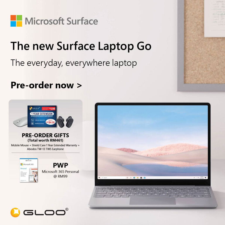 Surface Laptop Go gloo preorder deal