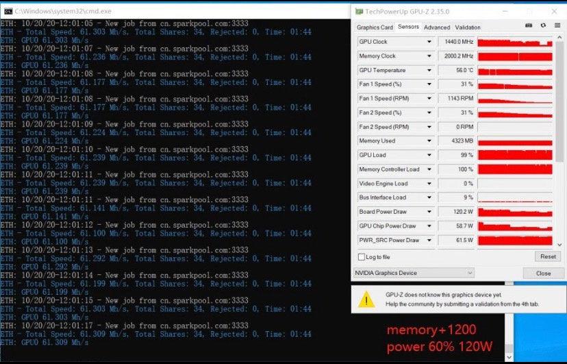 nvidia geforce rtx 3060 ti mining