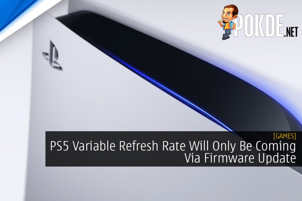 PS5 Variable Refresh Rate Will Only Be Coming Via Firmware Update