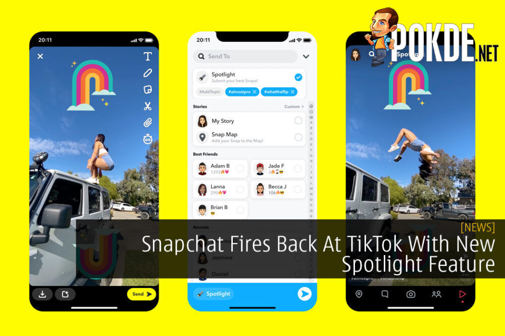 Snapchat Fires Back At TikTok With New Spotlight Feature