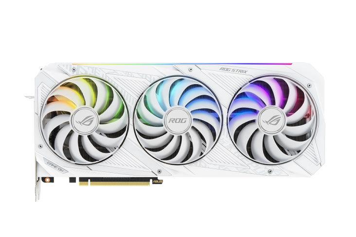 ASUS ROG Strix GeForce RTX 30 Series White fan