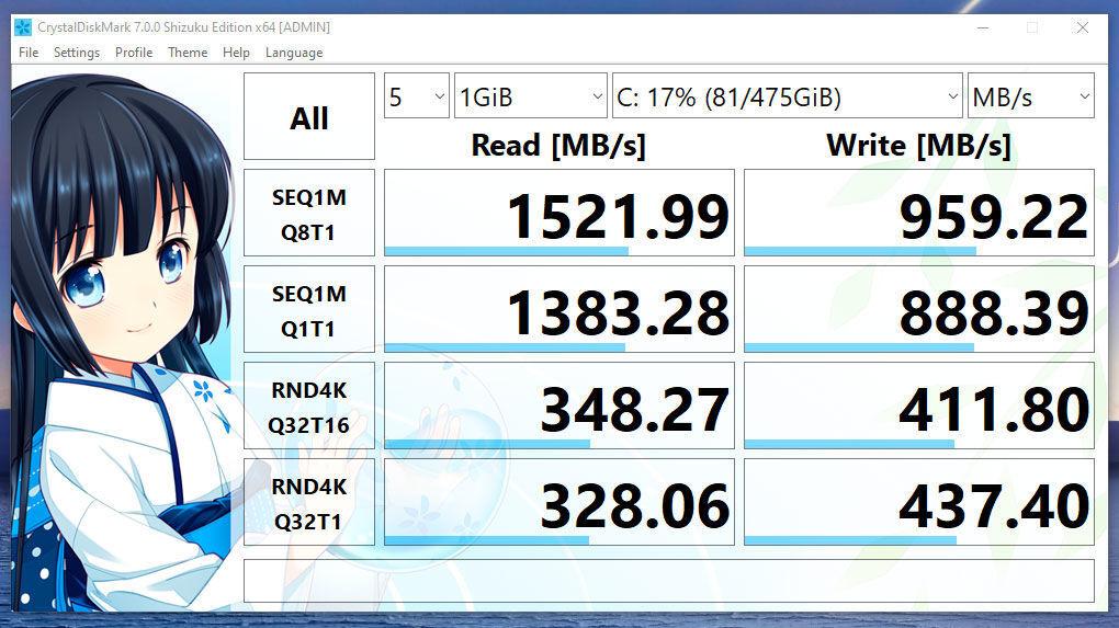 ASUS ZenBook 14 Review Tiger Lake Crystal Disk Mark