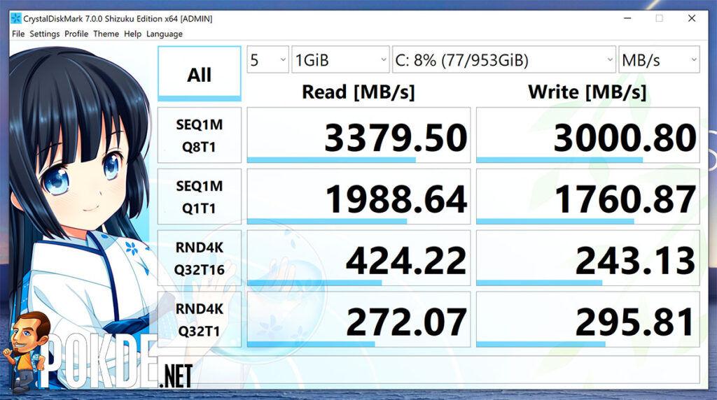 ASUS ZenBook Flip S Review CrystalDiskMark
