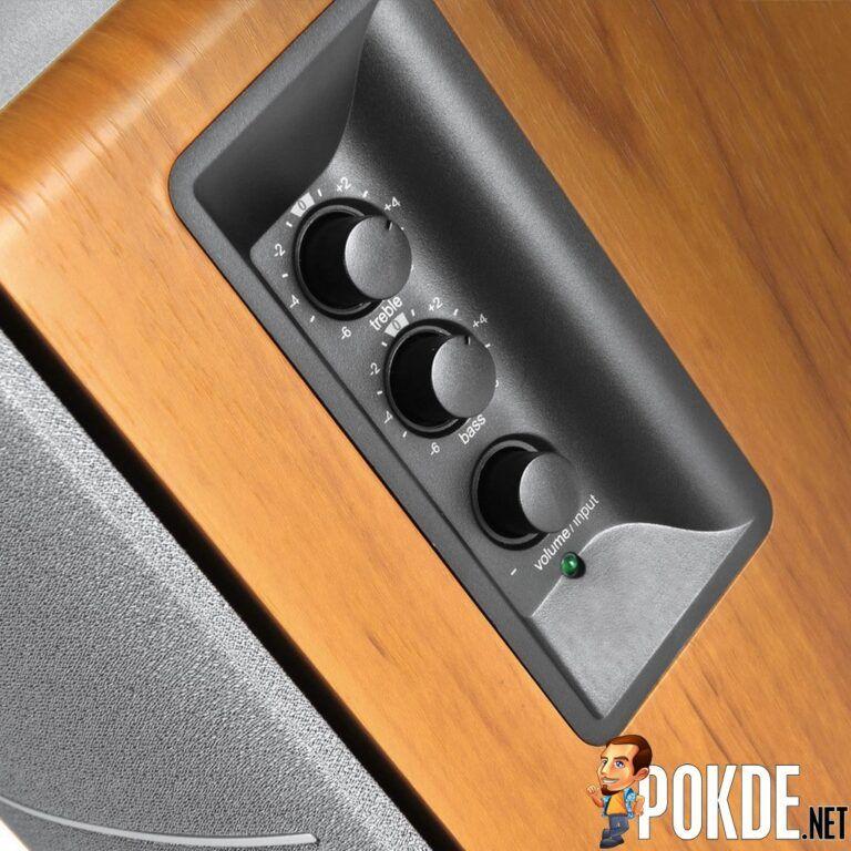 Edifier R1280DBs side controls