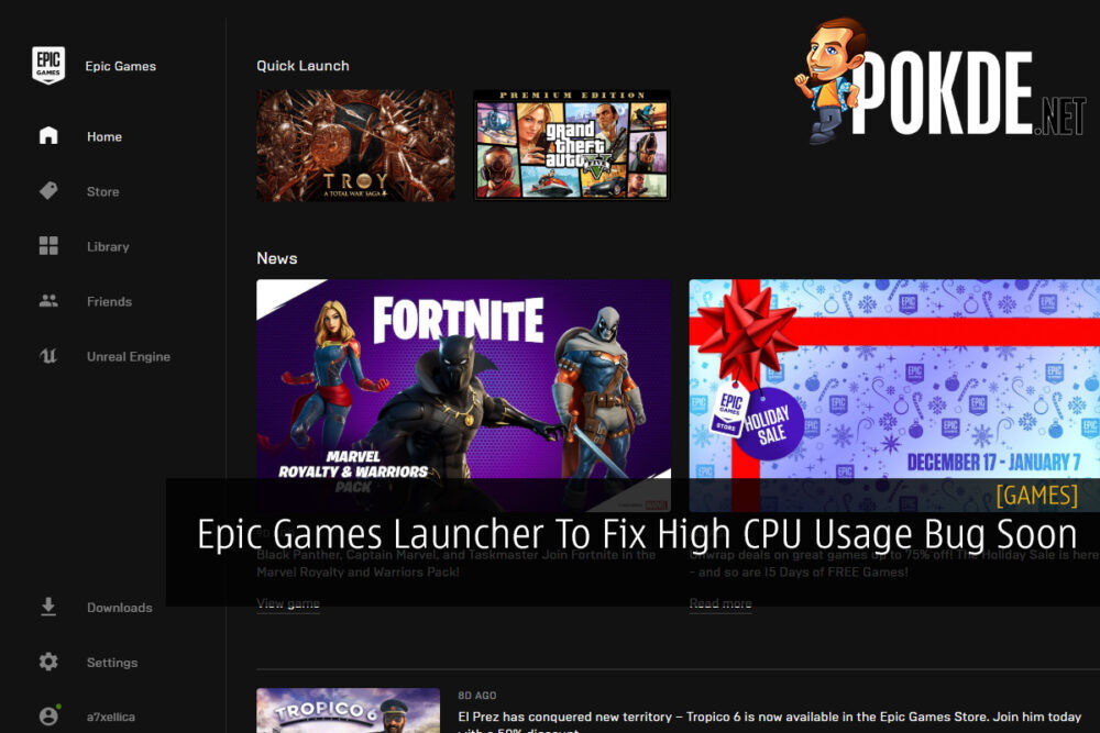 Epic Games Launcher To Fix High CPU Usage Bug Soon 26