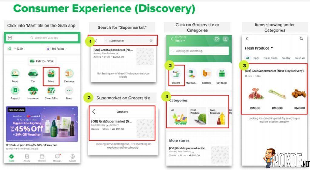 GrabSupermarket Delivery app