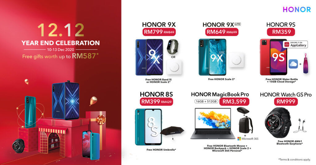 HONOR Malaysia Offers Up To 90% Off This 12.12 Year End Sale 19