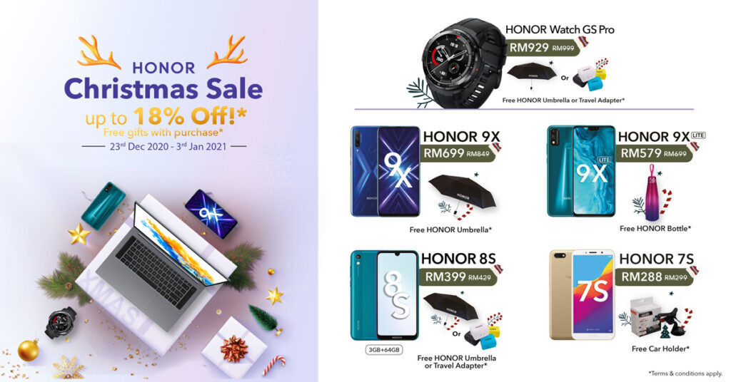 HONOR Malaysia Offers RM200 Off This Christmas 19