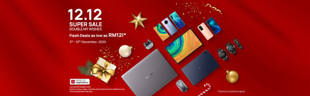 HUAWEI 12.12 Super Sale Is Now Running — Includes RM12 Flash Deals 24