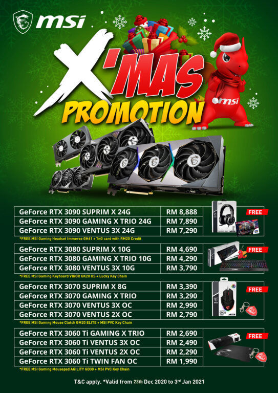 MSI Malaysia Offers Xmas Promotion For Their RTX 30 Series 18