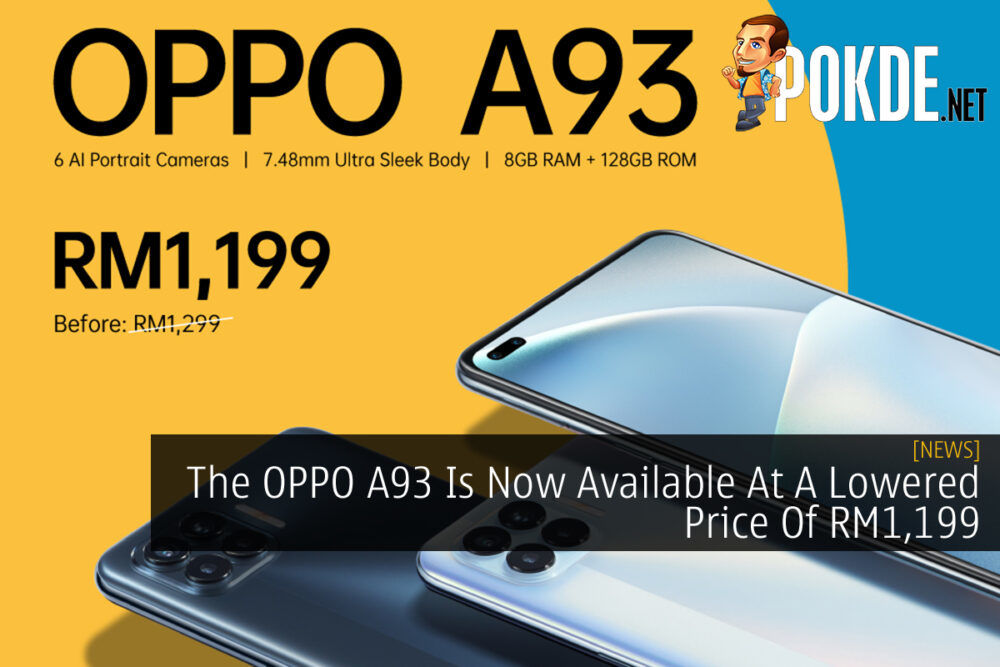 OPPO A93 price cut cover