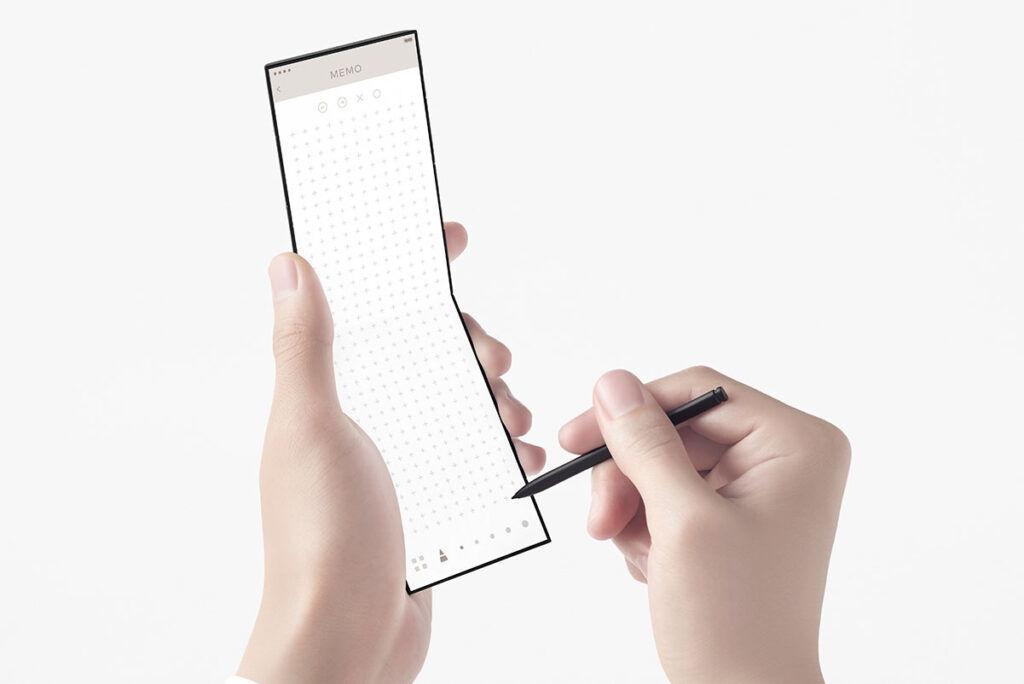 OPPO slide-phone concept stylus