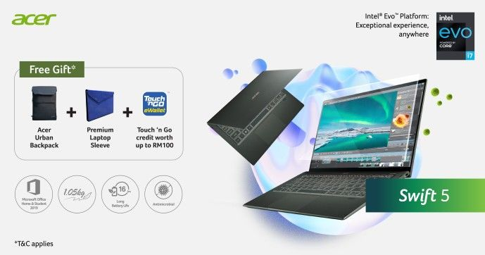 Acer Malaysia Launches New Line of Laptops for Work, Learn, Creativity, and Play