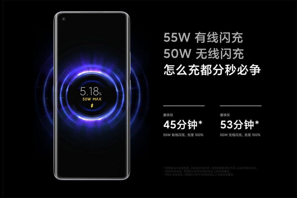 Xiaomi Mi 11 fast charging