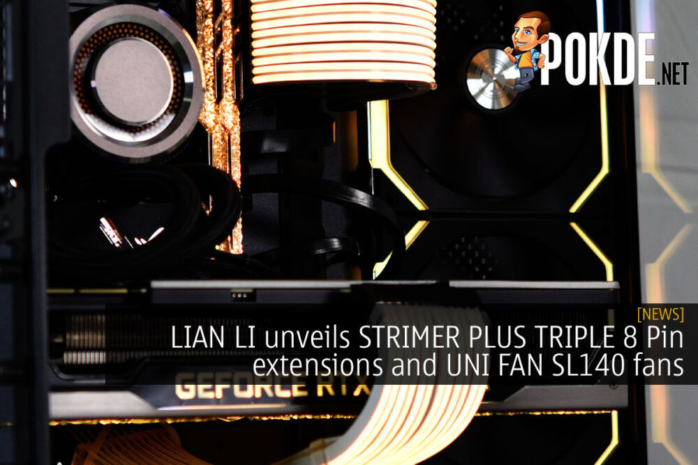 lian li strimer plus triple 8 pin uni fan sl140 cover