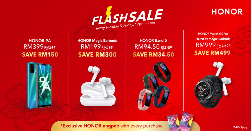 HONOR Malaysia Niu Year Sale Offers Up To 60% Off Discounts 21