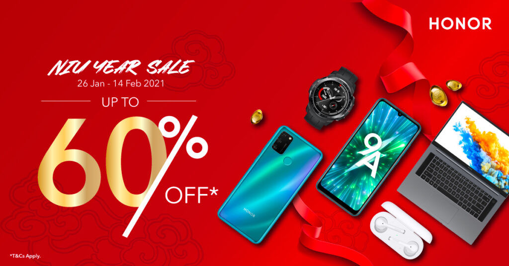 HONOR Malaysia Niu Year Sale Offers Up To 60% Off Discounts 20