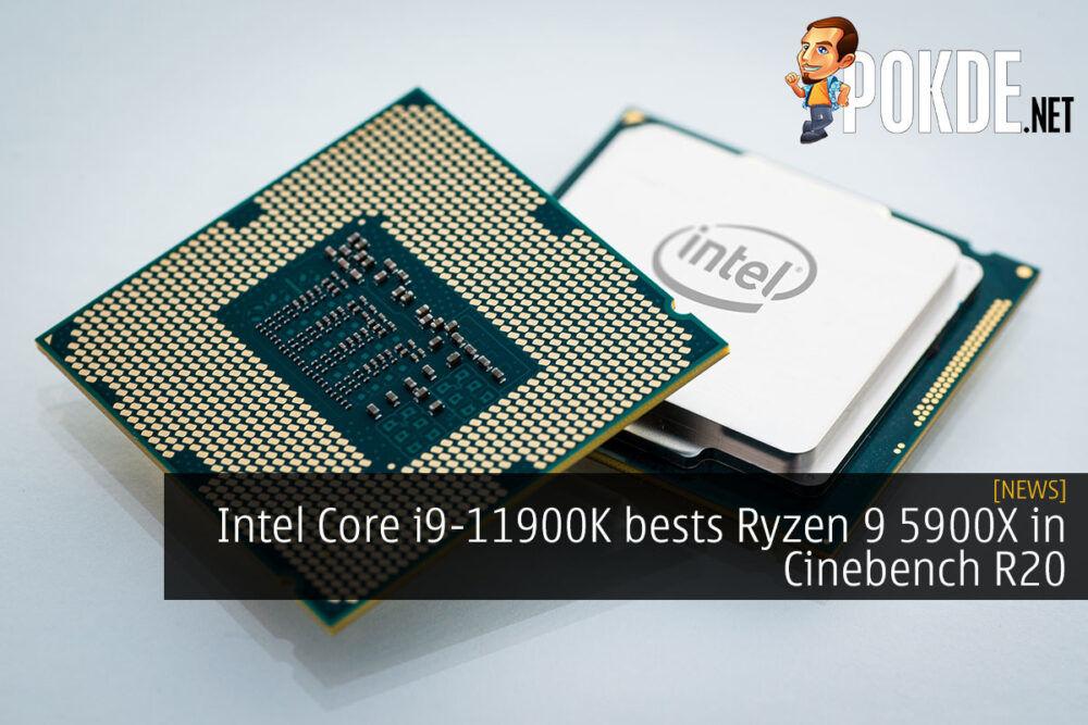 Intel Core i9-11900K cinebench r20 cover