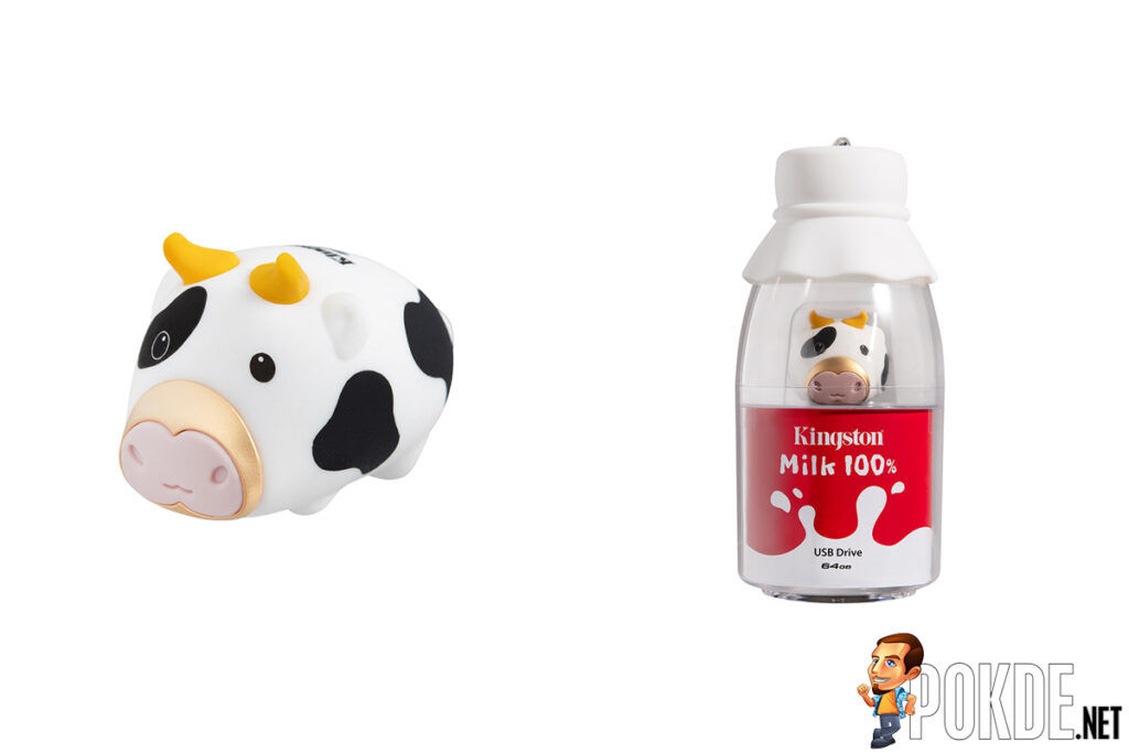 Kingston Mini Cow USB Flash Drive and Bottle